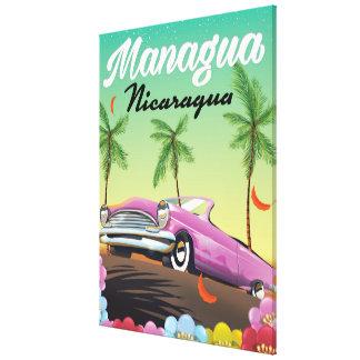 Toile Affiche de voyage de Managua - du Nicaragua