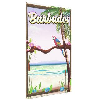 Toile Affiche de voyage de paysage de perroquet des