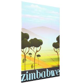 Toile Affiche de voyage de paysage du Zimbabwe
