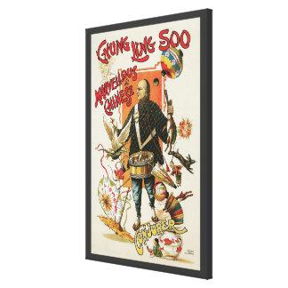 Toile Affiche magique vintage, magicien Chung Ling Soo