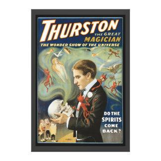 Toile Affiche magique vintage, Thurston, le grand