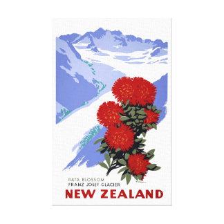 Toile Affiche vintage de voyage de fleur de la Nouvelle