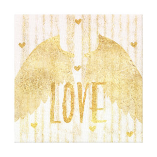 Toile Ailes d'ange d'amour d'or