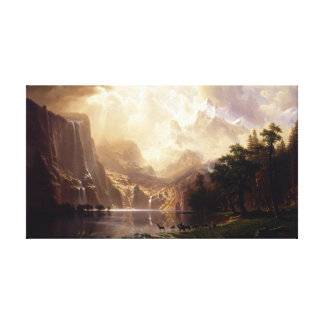 Toile Albert Bierstadt - parmi la sierra Nevada, Califo