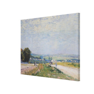 Toile Alfred Sisley   la route à Montbuisson