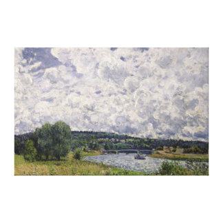 Toile Alfred Sisley   la Seine chez Suresnes