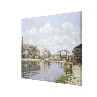Toile Alfred Sisley   le canal St Martin, Paris