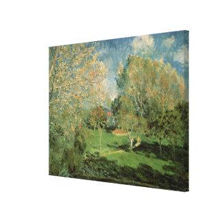 Toile Alfred Sisley   le jardin de la famille de
