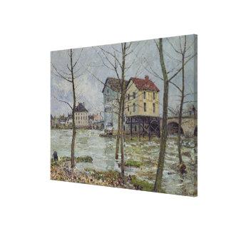 Toile Alfred Sisley   les moulins au Moret-sur-Loing