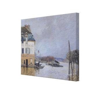 Toile Alfred Sisley   l'inondation à Port-Marneux