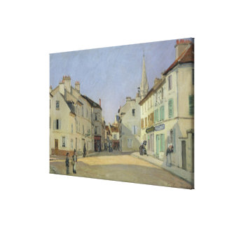 Toile Alfred Sisley   Rue de la Chaussee à Argenteuil