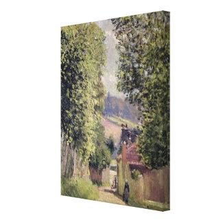 Toile Alfred Sisley   une route dans Louveciennes