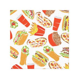 Toile Aliments de préparation rapide d'illustration
