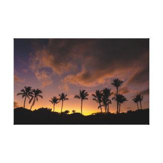 Toile Aloha lever de soleil