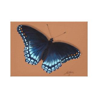 Toile Amiral pourpre Rouge-Repéré Butterfly Painting