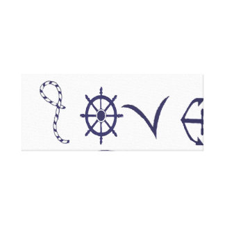 Toile Amour nautique, marin