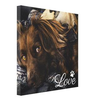 Toile Amour personnalisé du chien   Pawprint