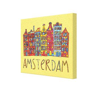 Toile Amsterdam dans la mosaïque