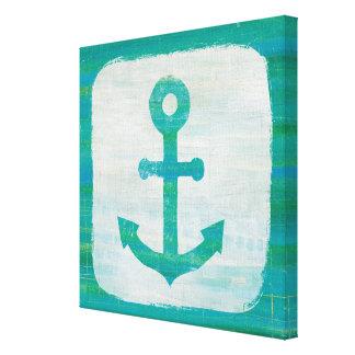 Toile Ancre côtière d'Aqua de l'art |