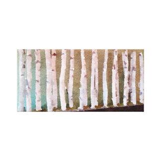 Toile Aquarelle abstraite d'arbres de bouleau