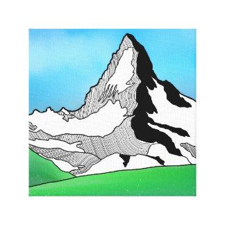 Toile Aquarelle Matterhorn Suisse de schéma