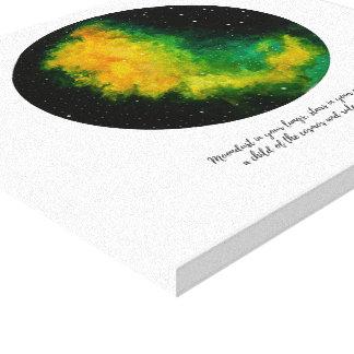 Toile Aquarelle originale de peinture de constellation