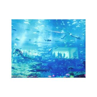 toile aquarium requins