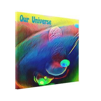 Toile Arc-en-ciel lumineux rare notre abrégé sur univers