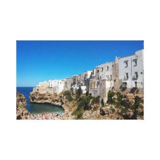 Toile Architecte de point de repère de plage de Bari
