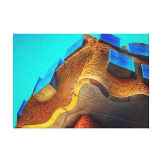 Toile Architecture renversante de courbe et de couleur