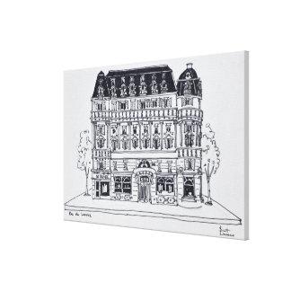 Toile Architecture | Rue du Louvre, Paris de Haussmann