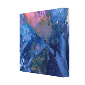 Toile Art abstrait - art de mur - pourpre rose bleu