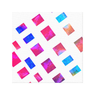 Toile art abstrait chic moderne enveloppé coloré de