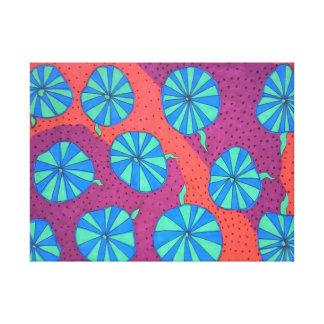 Toile Art abstrait coloré dans des tons chauds et frais