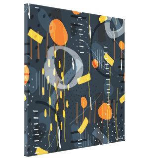 Toile Art abstrait de composition géométrique moderne en