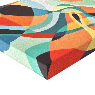Toile Art abstrait de convergence