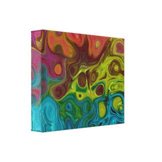 Toile art abstrait tourbillonnant 4444 777