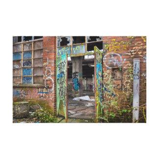 Toile Art de construction de rue abandonné par graffiti