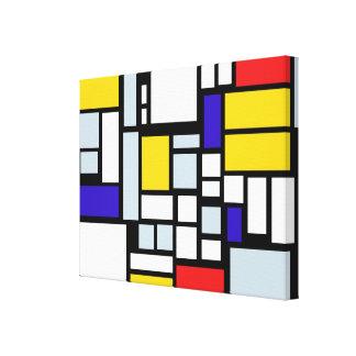 Toile Art de mur de carrés et de rectangles de couleur