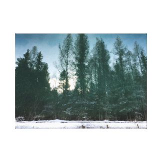 Toile Art de mur de paysage d'hiver du Michigan
