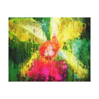 Toile Art impressionniste tropical de fleur d'orchidée