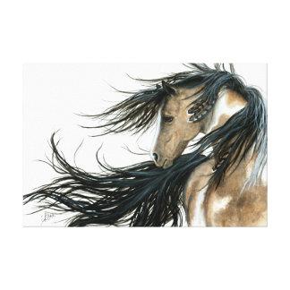 Toile Art majestueux de cheval de Pinto par Bihrle
