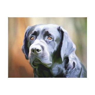 Toile Art noir de chien de labrador retriever de