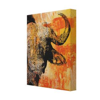 Toile Art orange de mur de Buffalo, art de mur de bison