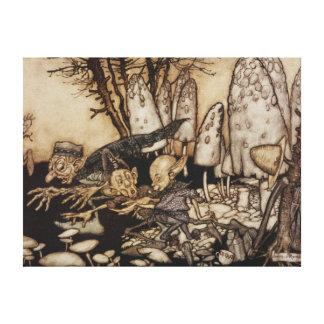 Toile Arthur Rackham | Peter Pan dans des jardins de