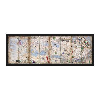 Toile Atlas catalan de 8 panneaux par Abraham Cresques