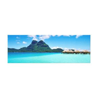Toile Au-dessus des pavillons de l'eau dans Bora Bora