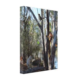 Toile Australien Quokka avec la faune australienne,