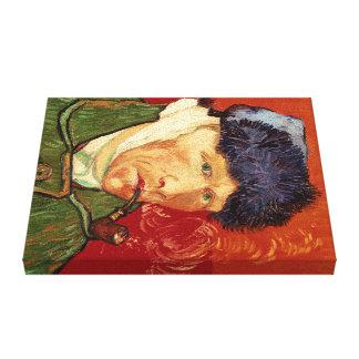Toile Autoportrait de Van Gogh avec l'oreille et le