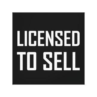 Toile Autorisé à se vendre